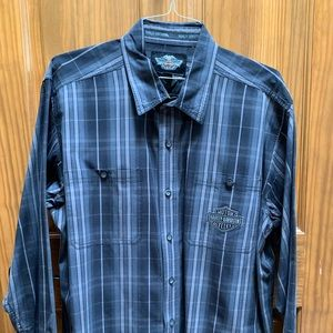 Men's L/S Harley-Davidson plaid shirt